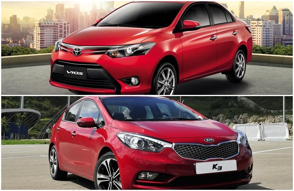 So sánh Kia K3 và Toyota Vios 2014 ở mức giá 600 triệu đồng