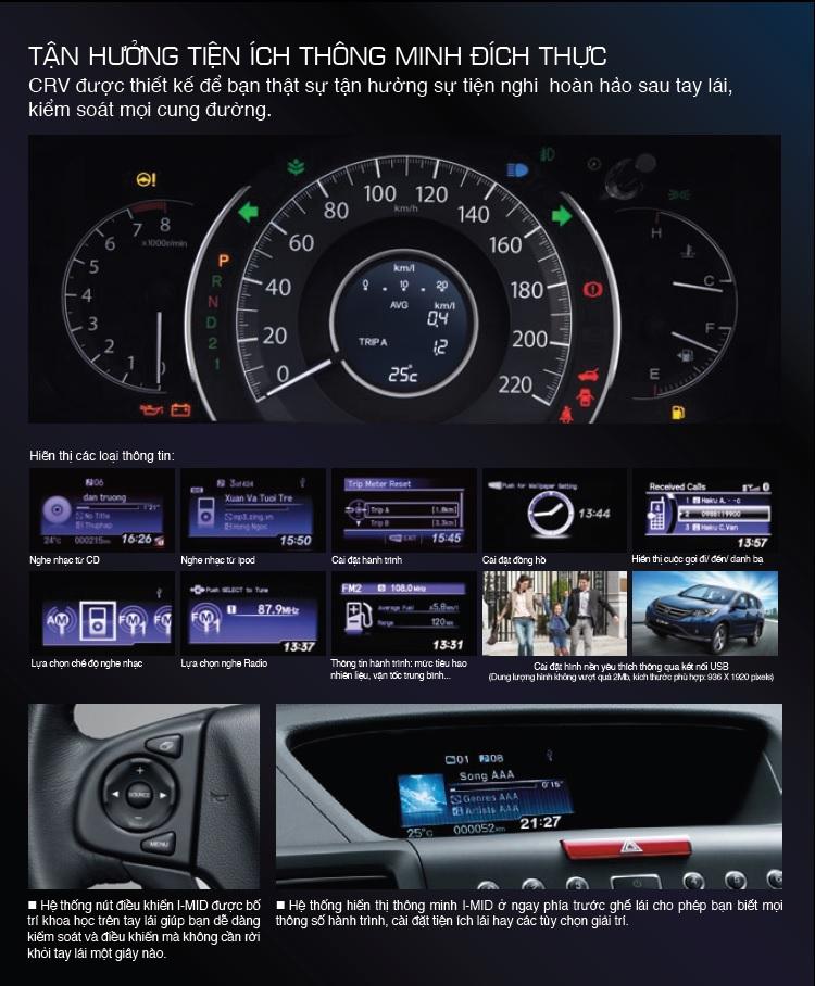 Honda CR-V tiện nghi