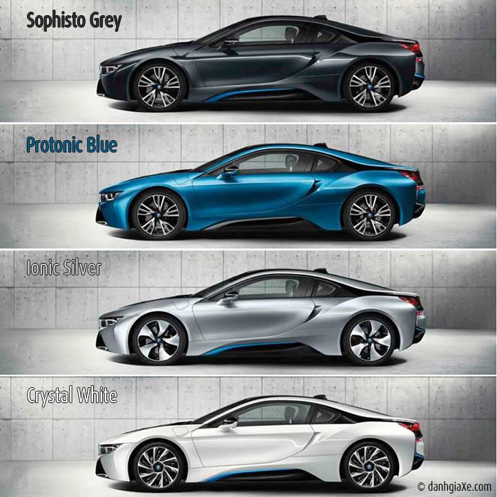 4 màu sắc tùy chọn của BMW i8