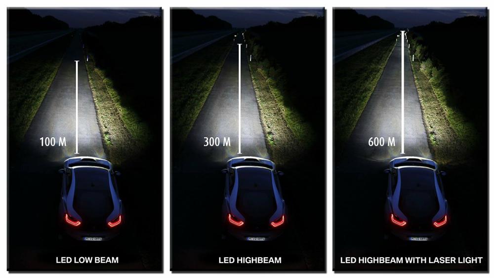 BMW Laser Light có thể nâng tầm quan sát của tài xế lên đến 600 m