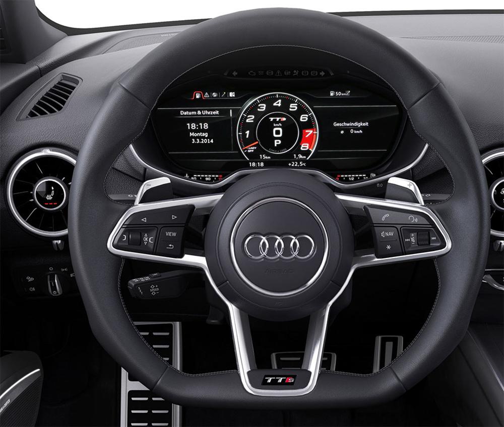 Audi TT có thể di chuyển dễ dàng và chính xác theo những chuyển động nhỏ trên vô-lăng