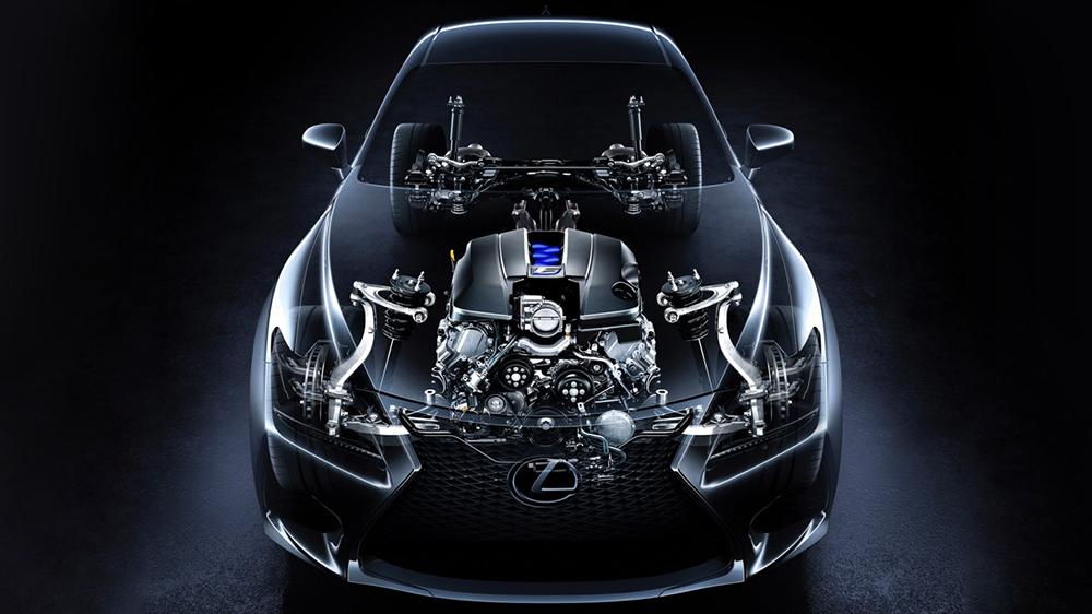 Lexus RC F 2015 được trang bị động cơ tăng áp V8 5.0L có công suất lên đến 467 mã lực