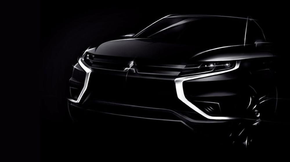 Bản phát thảo mặt trước mẫu Concept-S Outlander PHEV