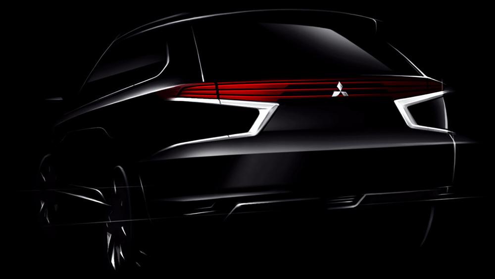 Bản phát thảo phần đuôi mẫu Concept-S Outlander PHEV