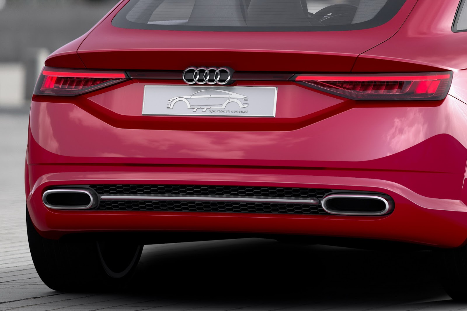 Mẫu Sportback Concept này có thiết kế đặc trưng của dòng TT