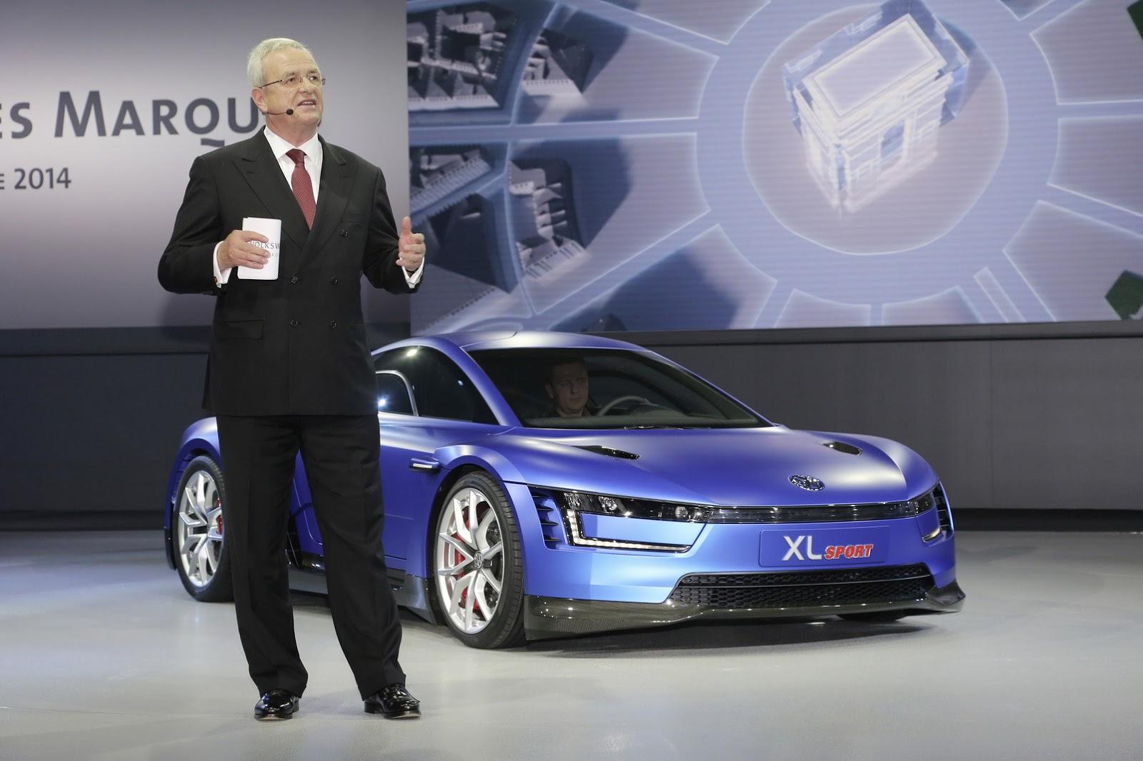 Volkswagen XL Sport Concept tại triển lãm xe hơi Paris 2014