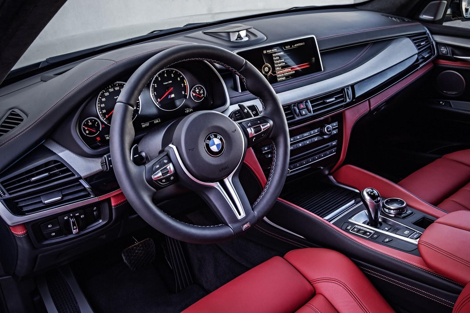 Nội thất thể thao và sang trọng của BMW X5M 2015