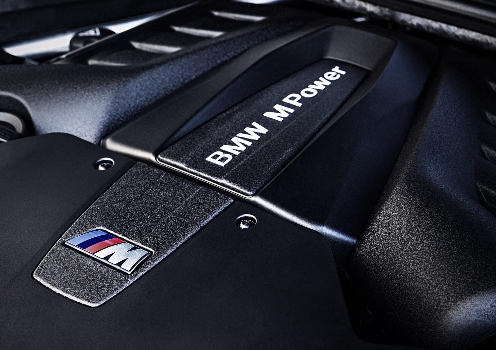 BMW X5M và X6M 2015 trang bị động cơ tăng áp kép V8 4.4L cải tiến có công suất 567 mã lực