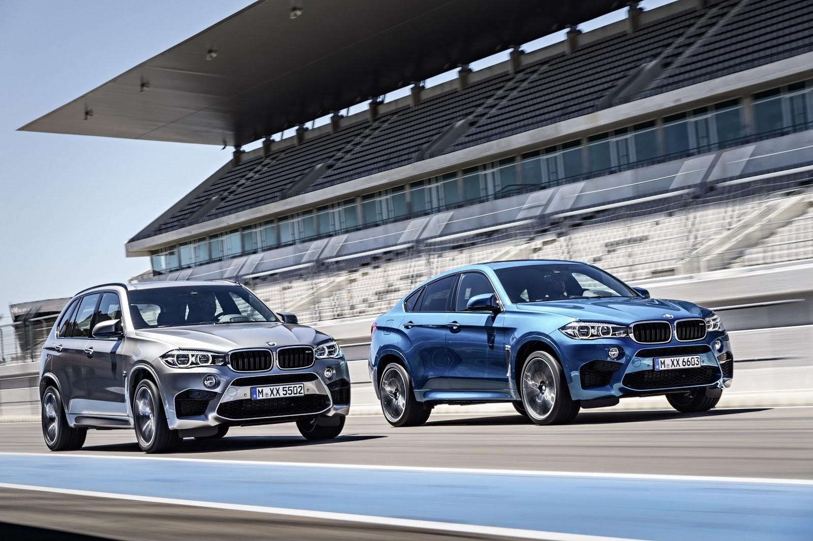 BMW X5M và X6M 2015
