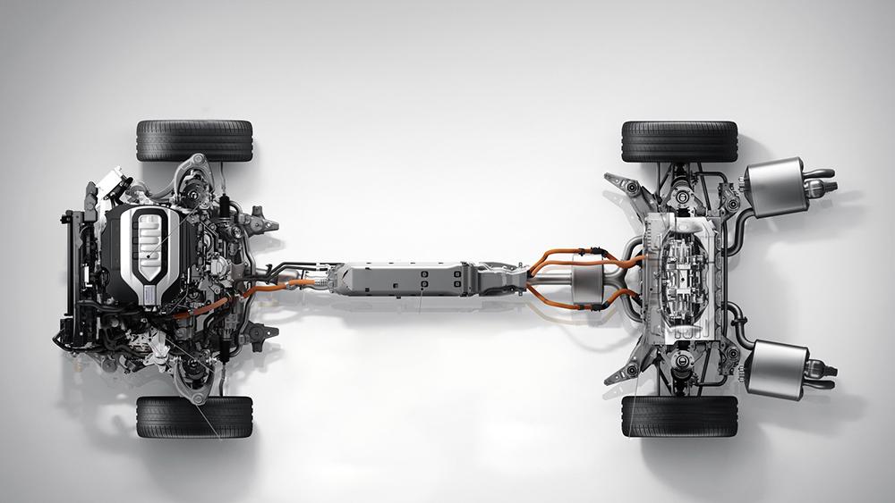Hệ thống treo và hệ thống động cơ Hybrid trên Honda Legend 2015
