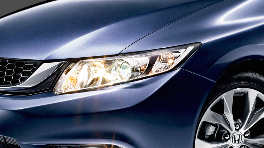 Ngoại thất của Honda Civic Facelift 2014 được thay đổi nhẹ