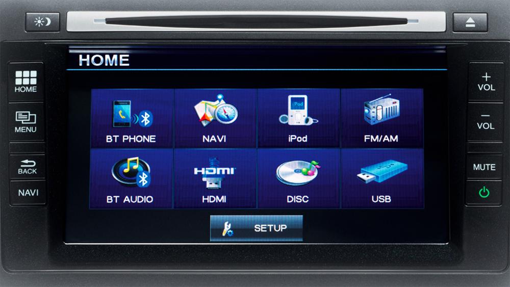 Phiên bản 2.0 Navi được trang bị thêm màn hình cảm ứng 7 inch