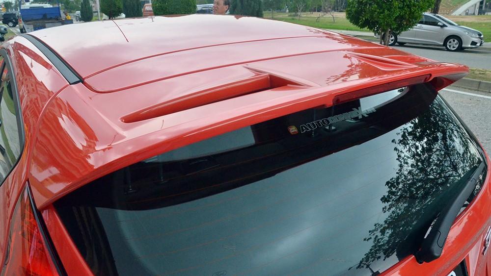 Mặt sau của mẫu Hatchback 3 cửa thể thao từ Ford: