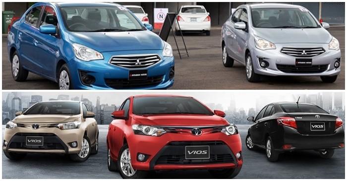 Chọn Toyota Vios hay Mitsubishi Attrage với giá tiền 550 triệu ...