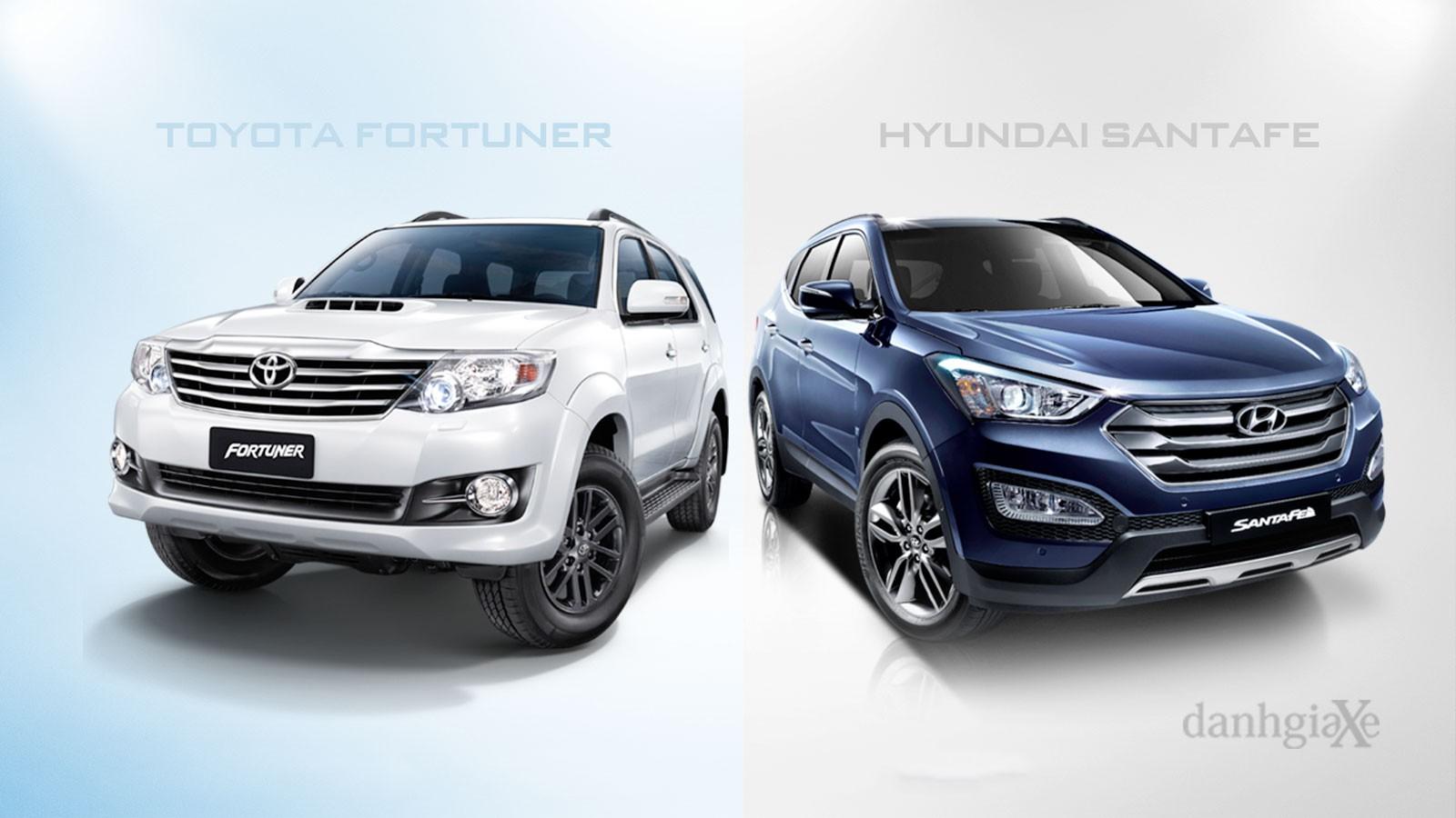 So sánh Hyundai SantaFe và Toyota Fortuner trong tầm tiền 1,3 tỷ đồng