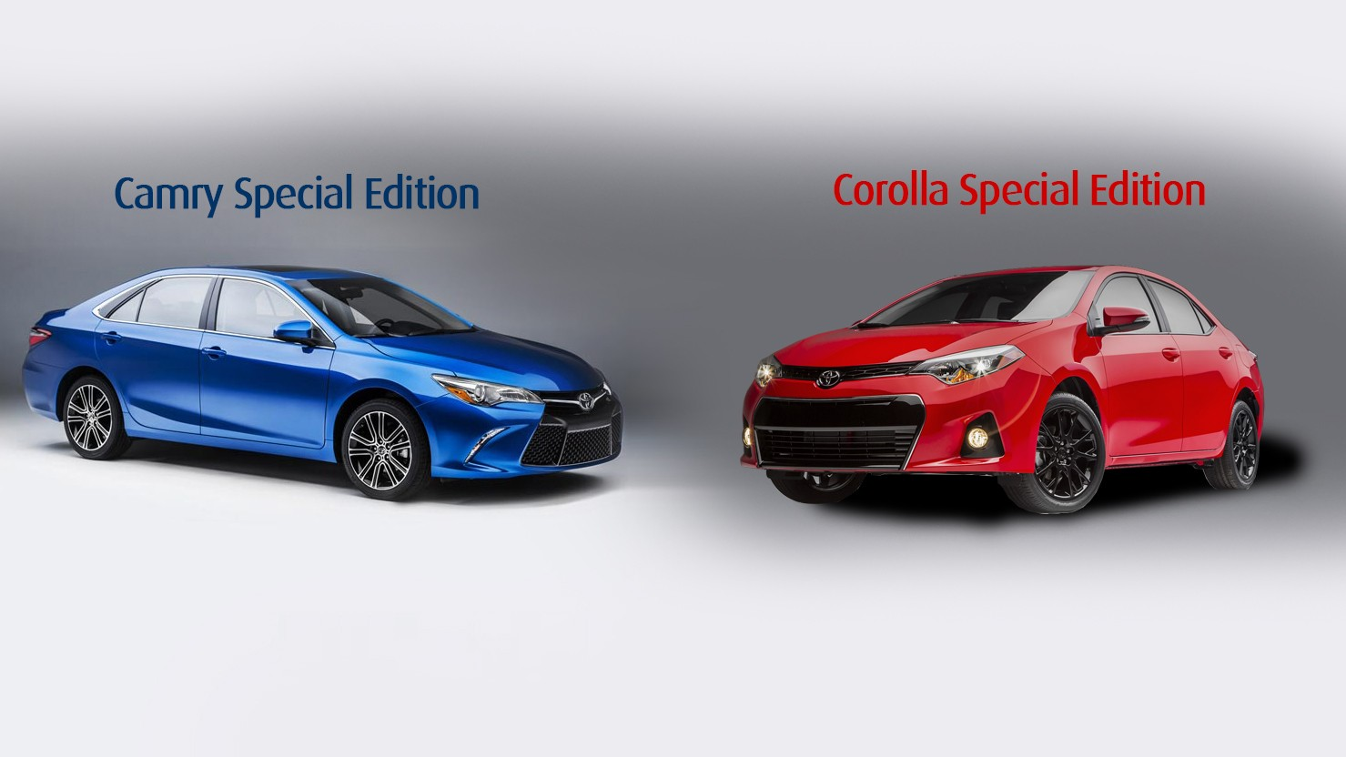 h nh nh chi ti t toyota camry v corolla special edition 2016. Black Bedroom Furniture Sets. Home Design Ideas