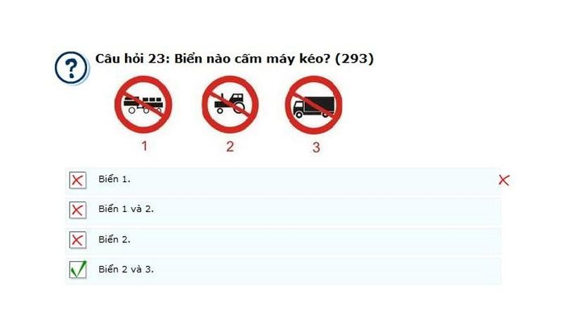 mẹo thi bằng lái xe B2 (2)
