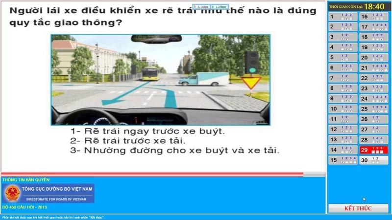 mẹo thi bằng lái xe B2