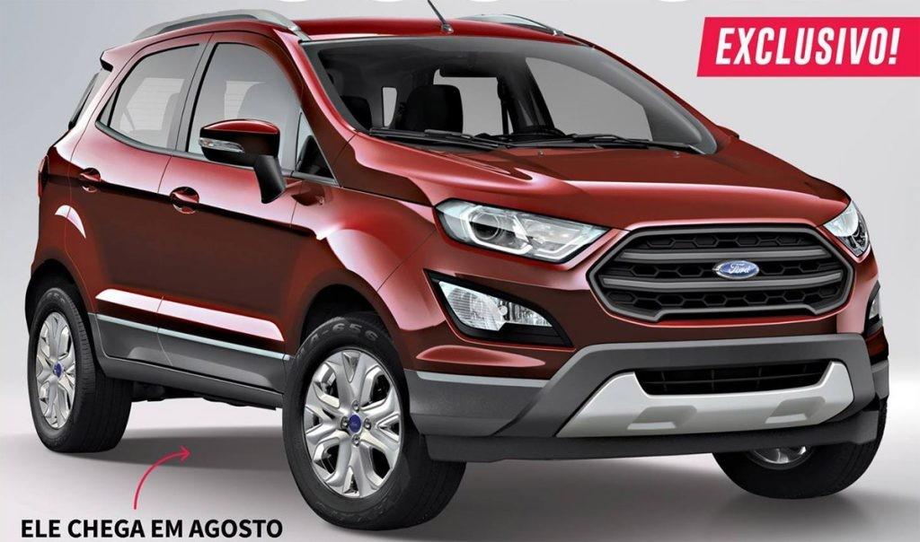 Bắt gặp Ford EcoSport facelift bị lộ ảnh thân và đuôi xe trên đường thử 5
