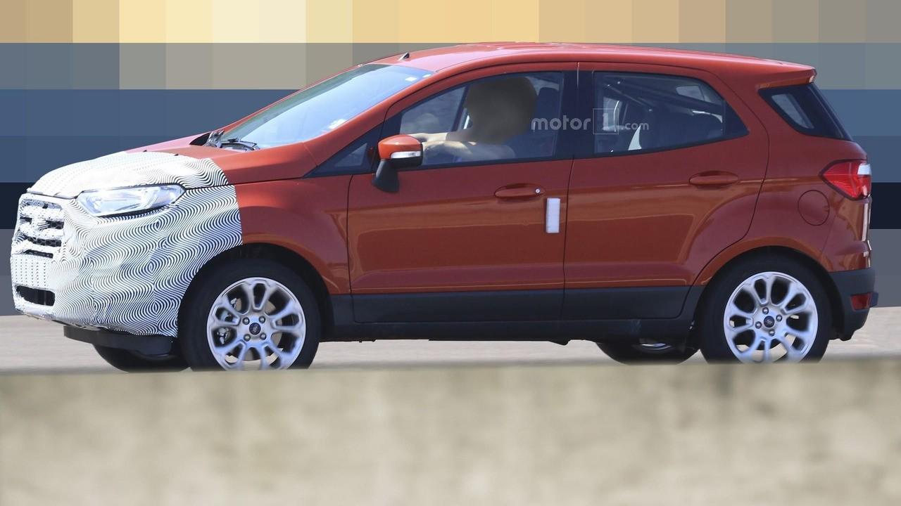 Bắt gặp Ford EcoSport facelift bị lộ ảnh thân và đuôi xe trên đường thử 2