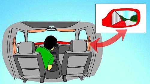 Điều chỉnh gương chiếu hậu ô tô đúng cách