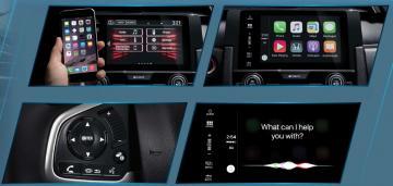 Hệ thống thông tin giải trí nâng cấp mới ở Honda Civic 2016.