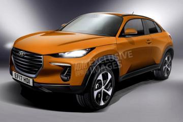 Ảnh phác thảo mẫu SUV hoàn toàn mới của Hyundai