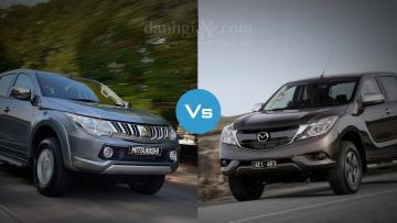 So sánh nhanh Mitsubishi Triton MIVEC 2017 và Mazda BT-50 2016